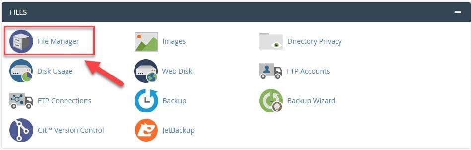 مدیریت فایل cPanle