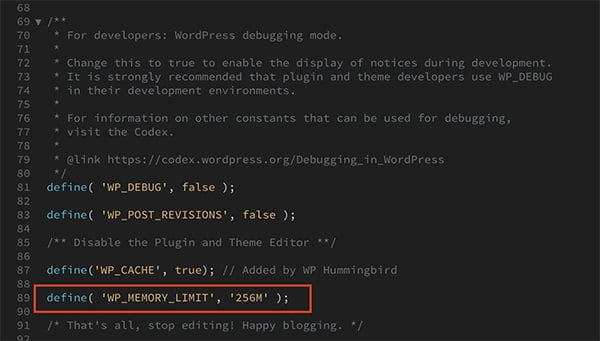 افزایش محدودیت حافظه PHP وردپرس - wp-config.php