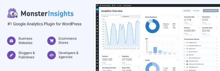 بهترین افزونه های آمار بازدید وردپرس - Google Analytics by MonsterInsights