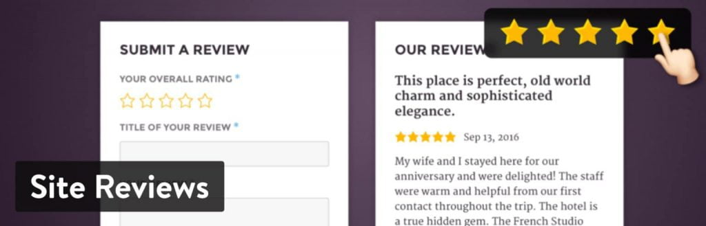 بهترین افزونه امتیاز دهی وردپرس Site Reviews